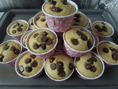 Chocolate chip muffin simple dan mudah