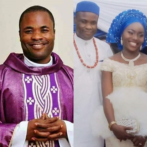 Rev. Edet Who Resigned As Catholic Priest Marries His Wife In Colourful Wedding Ceremony (Photos)