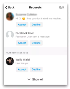 Facebook Messages Other Folder<br/>
