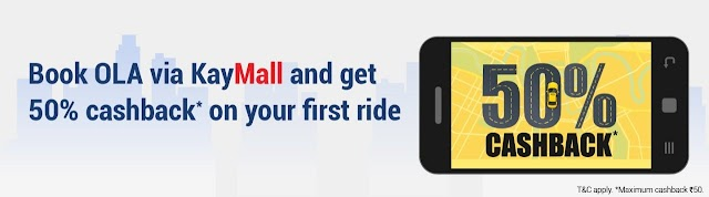 Get 50% Cashback On Ola Ride