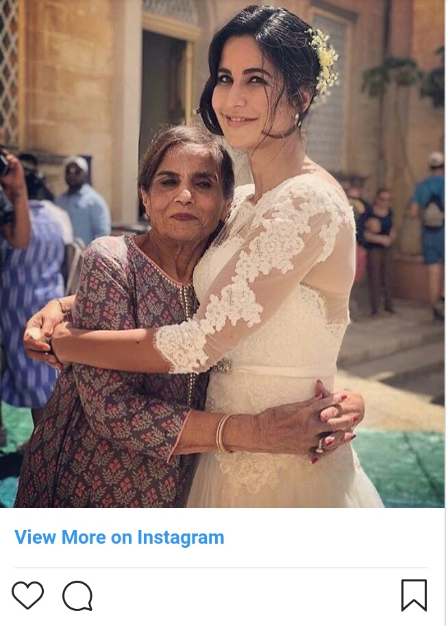 Katrina and salma khan..bharat set
