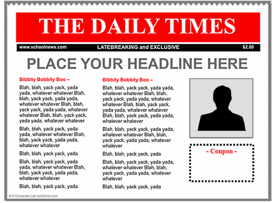 3 Good iPad Newspaper Templates for Teachers | Educational ...