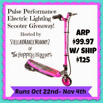 Enter the Pulse Performance Scooter Giveaway. Ends 11/4