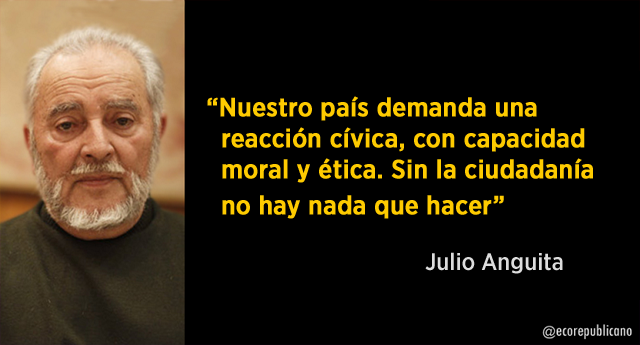 """Julio Anguita: """"La corrupción es una gangrena institucionalizada"""""""