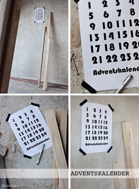 Ein Adventskalender zum Ankreuzen (Druckvorlage)
