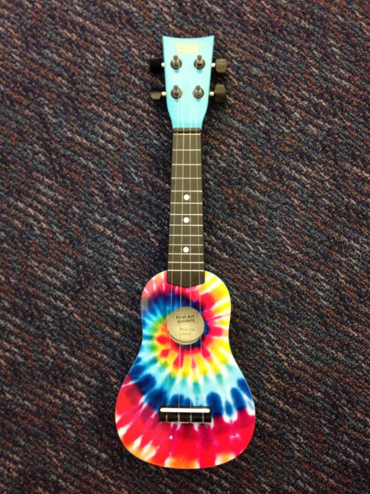 music with mr barrett tie dye ukulele. Black Bedroom Furniture Sets. Home Design Ideas