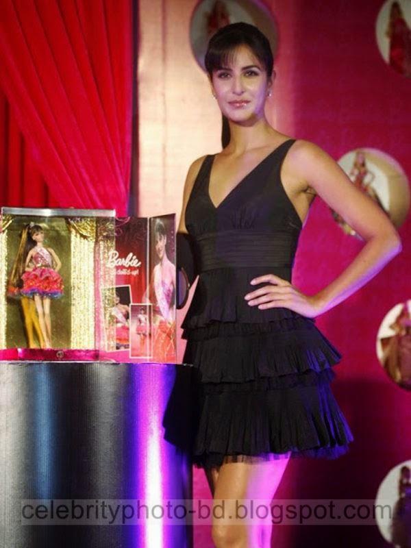Beautiful Katrina Kaif Photos in Short Skirt Barbie Dress 2014