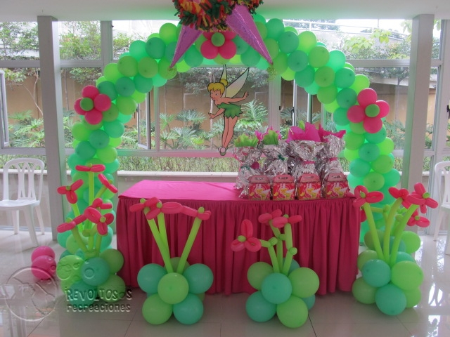 Decoracion de fiestas infantiles de campanita for Decoracion fiesta infantil nina