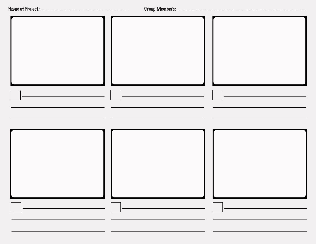 Storyboard template - click to enlarge