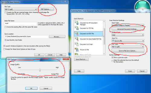 Save Options in HP Solution Center
