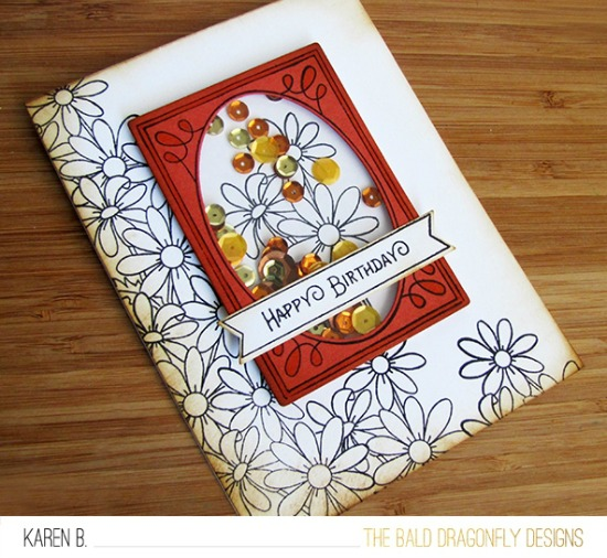 Happy Birthday Card by October Guest Designer Karen Baker | Flower Garden & Garden Starter Stamp Sets by Newton's Nook Designs #newtonsnook