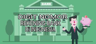 digit nomor rekening bank bri mandiri bni bca