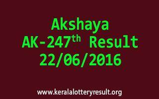 Akshaya Lottery AK 247 Results 22-6-2016