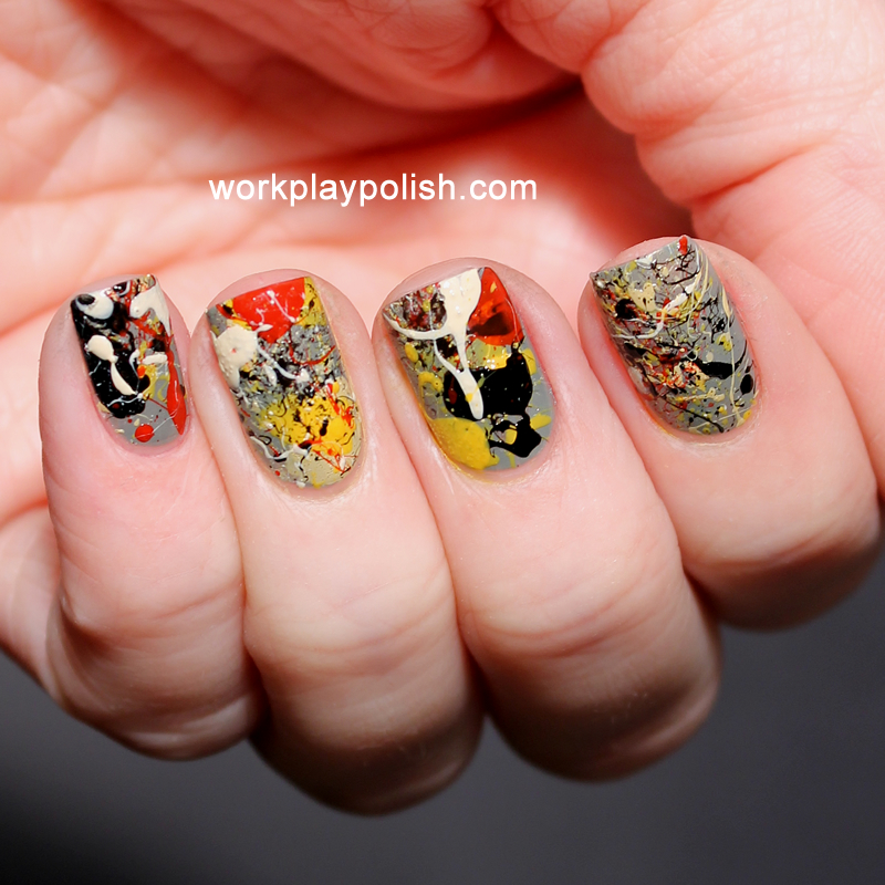 Jackson Pollock No. 8 Nails (work / play / polish)