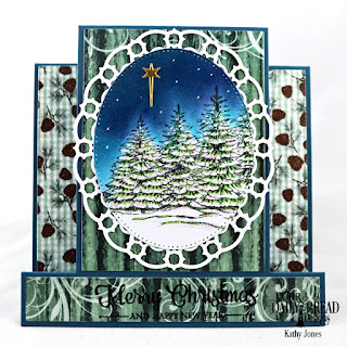 Our Daily Bread Designs Stamp Set: Peaceful Wishes Custom Dies: Center Step Card, Center Step Layers, Holy Night, Pierced Ovals, Layered Lacey Ovals Paper Collection: Christmas  2017