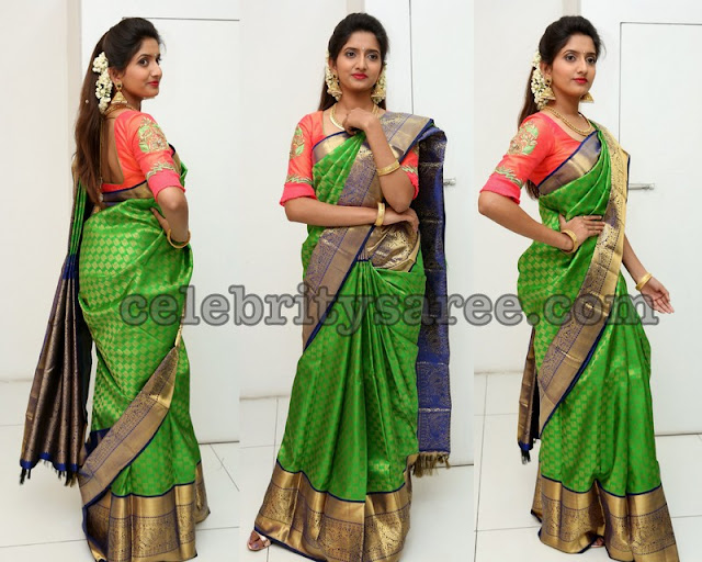 Priya Murthy Green Bridal Saree