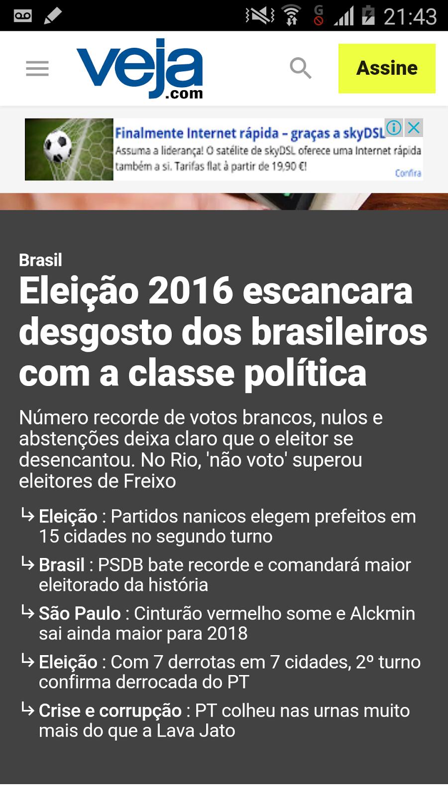 Eleição 2016 escancara desgosto do brasileiro com classe política