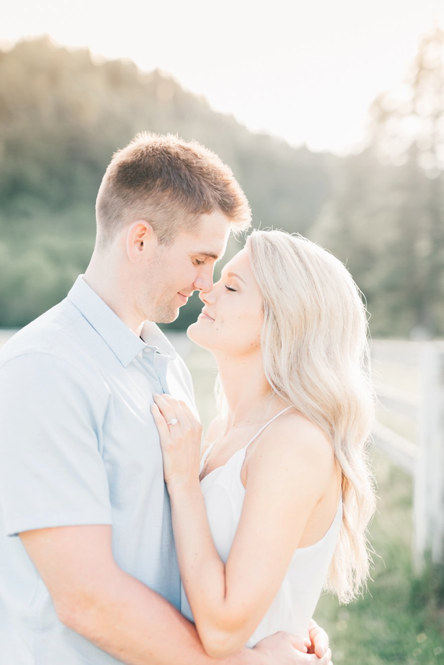 Rein Fire Ranch-Golden Light Engagement Session-Something Minted Photography