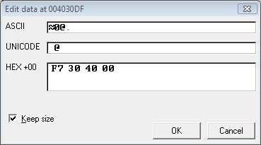 Gambar 9. Memasukan nilai F7304000