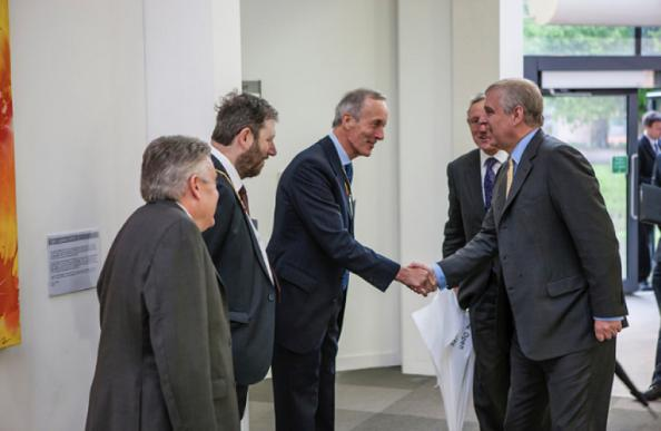 Prince Andrew visited the Royal Children's Hospital in Melbourne