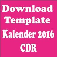 Download Template kalender 2016 format CDR