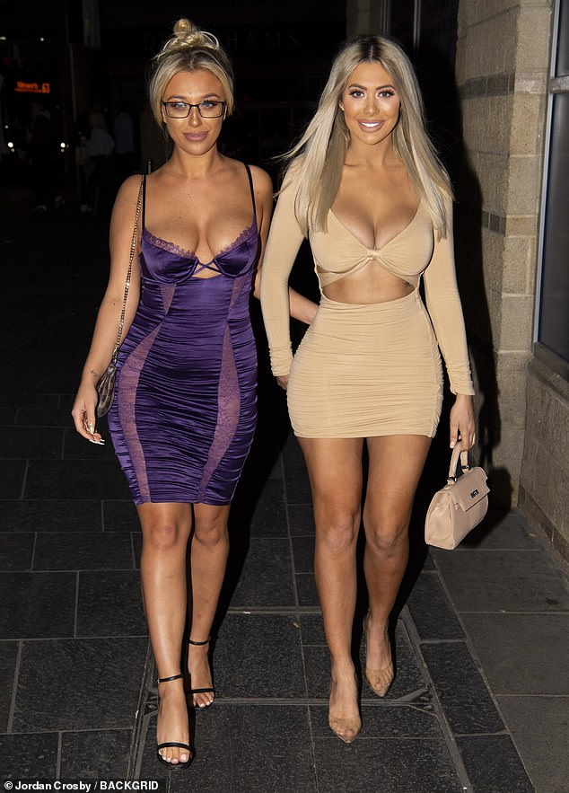 Together with Geordie Shore co-star Bethan Kershaw, Chloe Ferry displays her hourglass shape in bodycon dress. (Photos)-olowublog