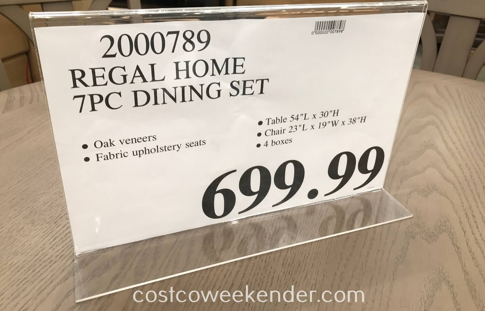 Deal for the Regal Home 7-piece Dining Set at Costco