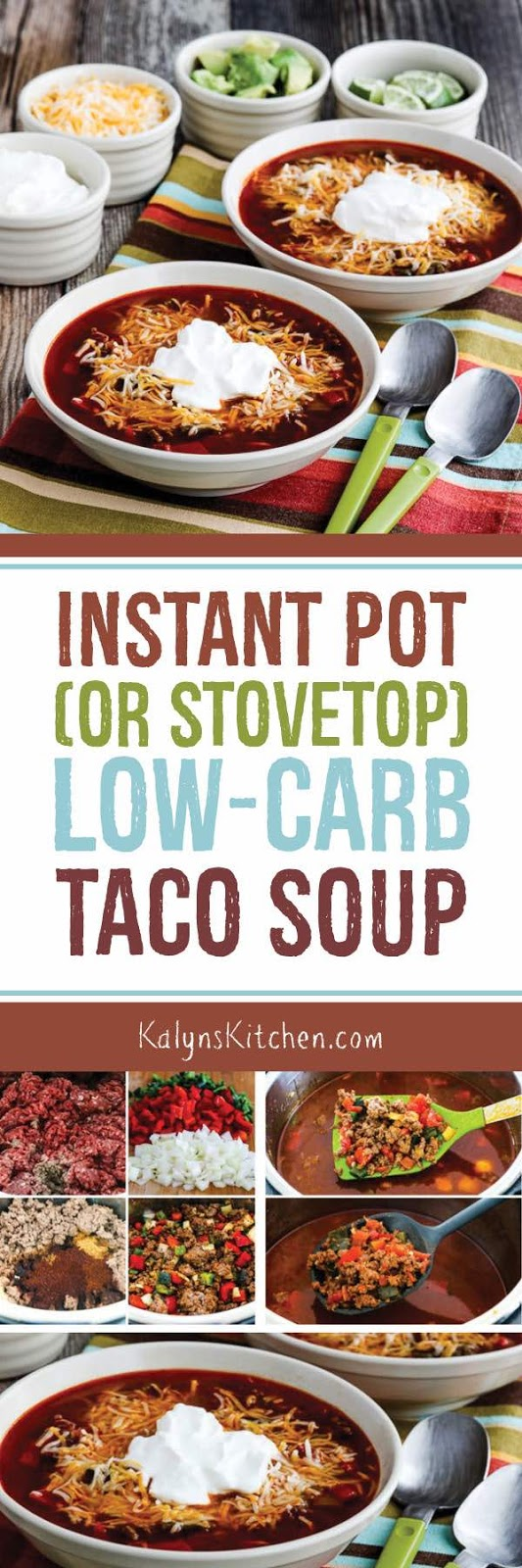 Instant Pot Or Stovetop Low Carb Taco Soup Video