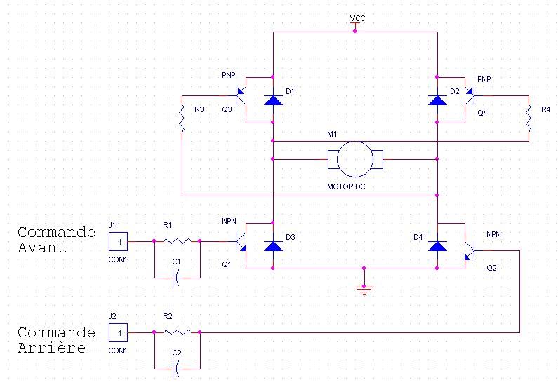 pont h transistor pour contr ler un moteur dc dans les deux sens mchobby le blog. Black Bedroom Furniture Sets. Home Design Ideas