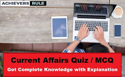 Daily Current Affairs MCQ - 9th & 10th October 2017