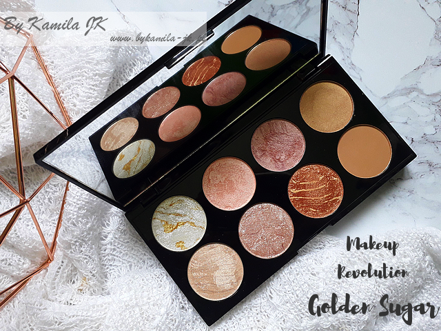 Makeup Revolution paletki różów Blush Palette Golden Sugar