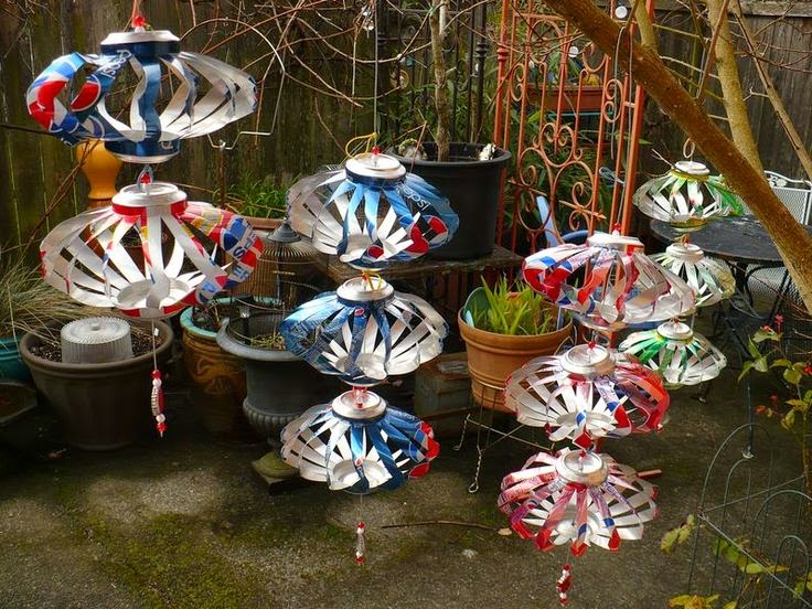 How To Recycle Wind Spinner Cans Christmas Ornaments