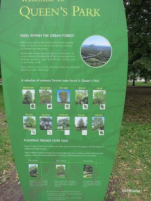 Queen's Park urban forest sign