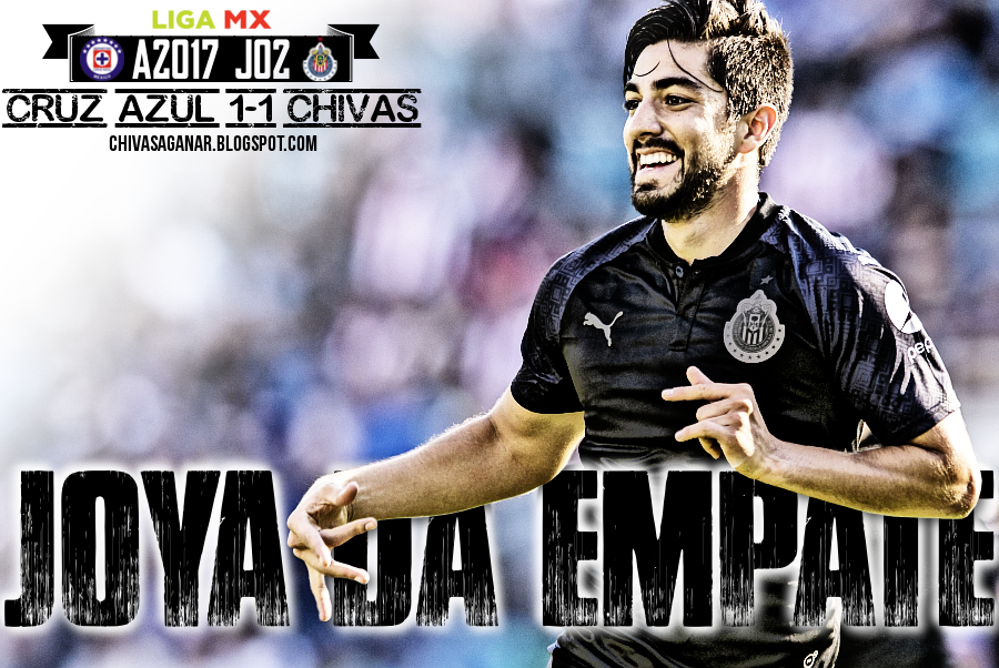 Liga MX : Cruz Azul FC 1-1 CD Guadalajara - Apertura 2017 - Jornada 02.