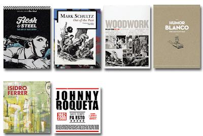 Catálogos Exposiciones Comic Palma de Mallorca, Casal Solleric: Russ Heath, Mark Schultz, Wallace Wood, Josep Maria Blanco, Isidro Ferrer, Johnny Roqueta