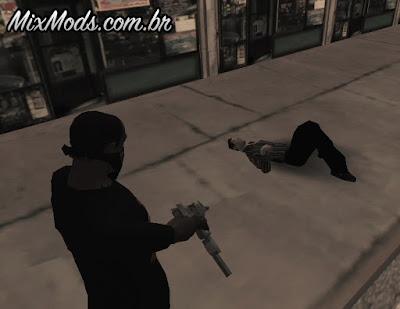 mod animações de morte gta sa