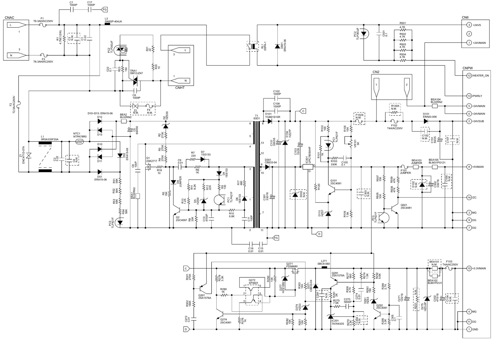 tv power schematic enthusiast wiring diagrams u2022 rh rasalibre co samsung led tv circuit diagram free [ 1600 x 1104 Pixel ]
