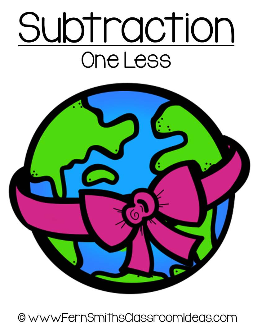 Earth Day - Subtract One Less Center Game
