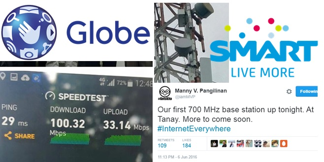 Smart, Globe fire up 700 MHz-powered LTE cell site