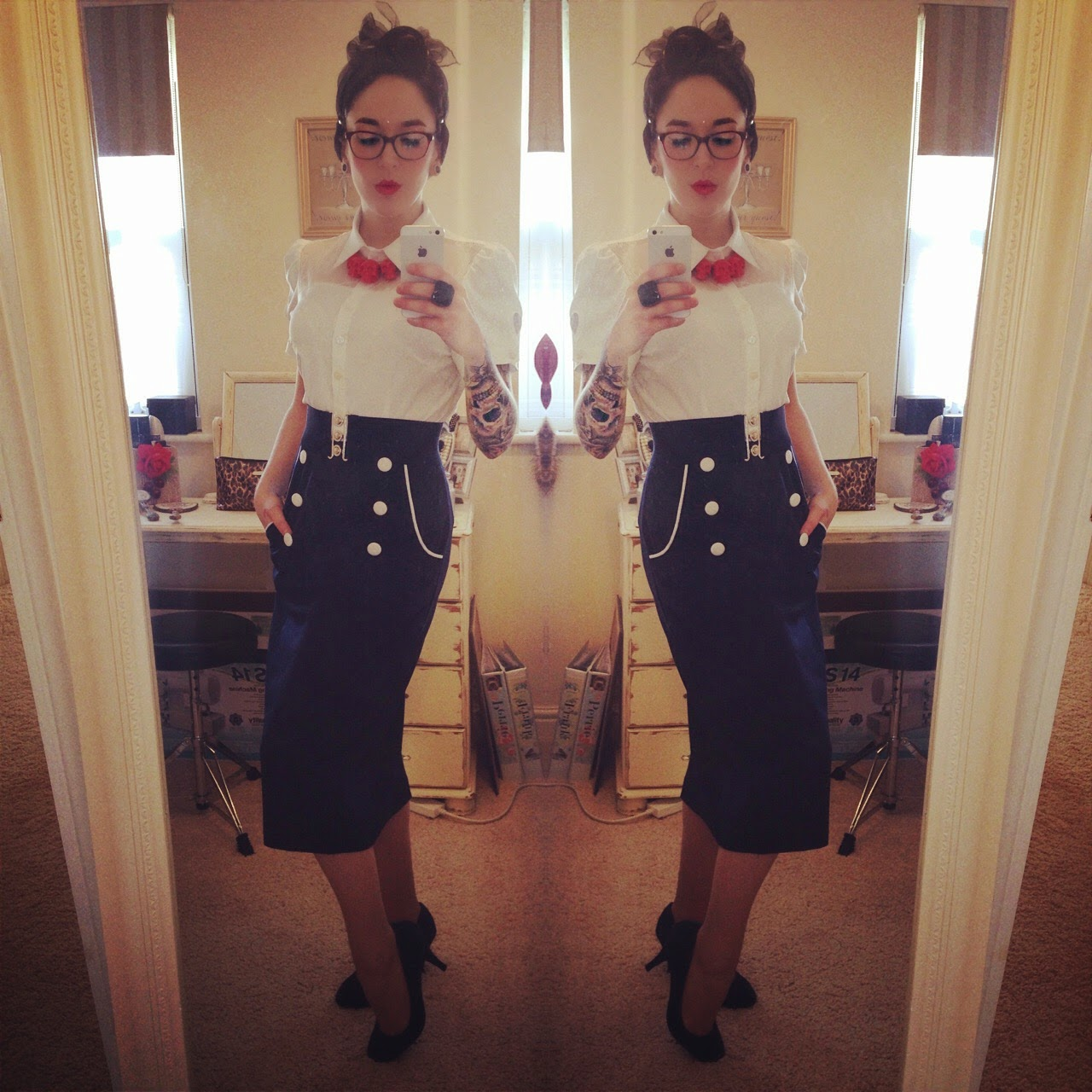 Bernadette Sailor Skirt and Amanda Blouse from Collectif