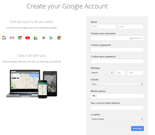 creating google account