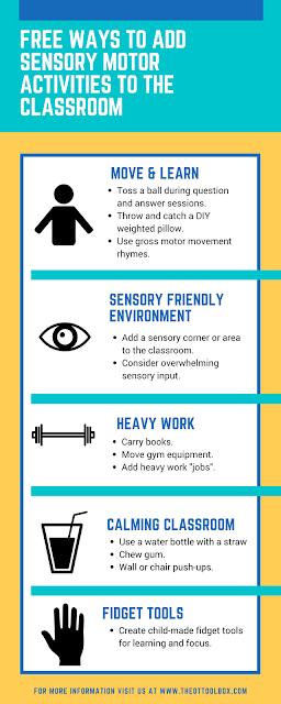 Free classroom sensory motor ideas for school