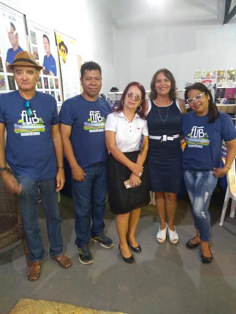 Presidente do Sindsemb, Carmélia da Mata prestigia primeiro dia da FLIB 2019
