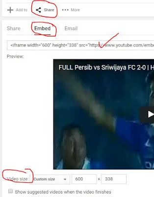 Cara Posting Video Youtube di Blog