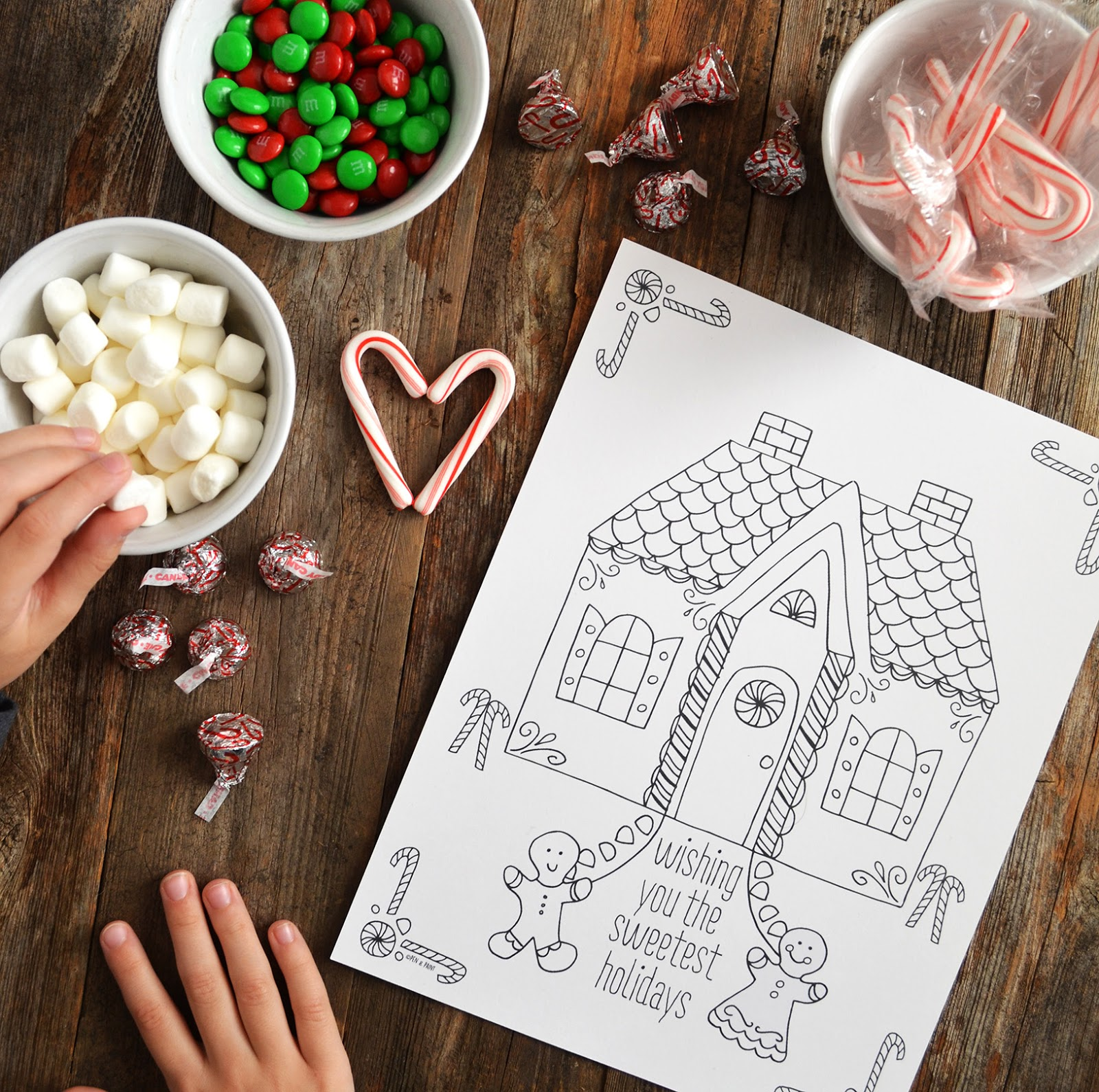 pen u0026 paint free gingerbread coloring page