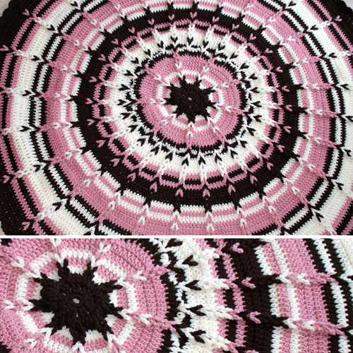Round Jacob's Ladder Blanket for Babies - Free Pattern