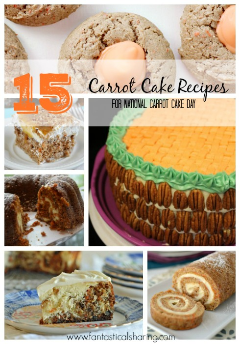 15 Carrot Cake Recipes for National Carrot Cake Day // These fifteen recipes are just amazing and the perfect way to celebrate the day! #carrotcake #dessert #roundup