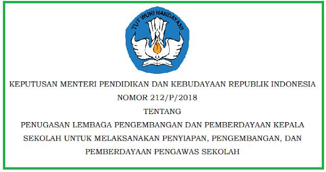 Keputusan Mendikbud Nomor 212/P/2018