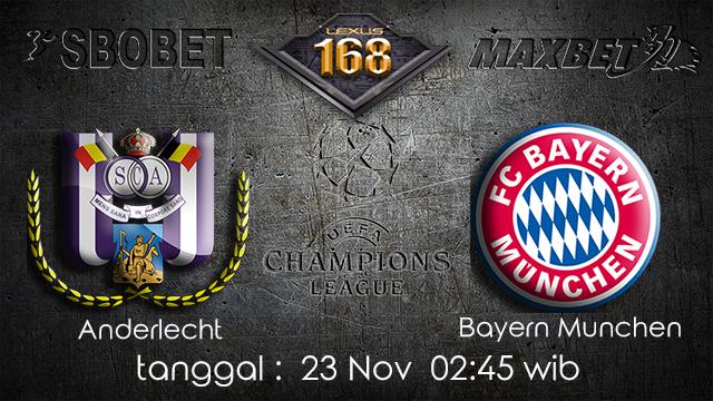 PREDIKSIBOLA - PREDIKSI TARUHAN BOLA ANDERLECHT VS BAYERN MUNCHEN 23 NOVEMBER 2017 (UEFA CHAMPIONS LEAGUE)