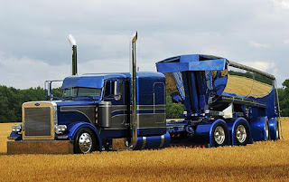Peterbilt 379 Western Star Truck  Blue Sea Color